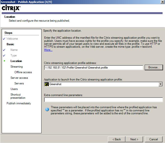 Citrix Streaming Profiler for Streaming Application   MyXenApp