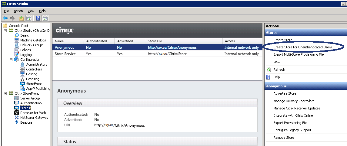 Anonymous Authentication in Citrix StoreFront | MyXenApp